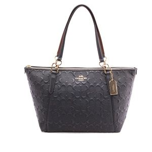 NEW COACH (F28558) SIGNATURE EMBOSSED LEATHER MIDN